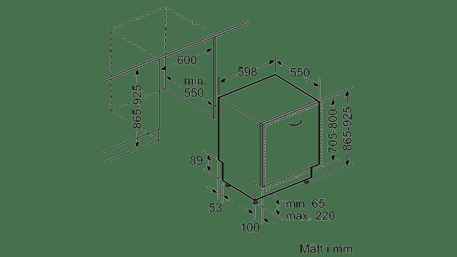 Köp Bosch Integrerad Diskmaskin SBE45CX00E FrÃ¥n 9 199 kr : toalettstol mått : Inredning
