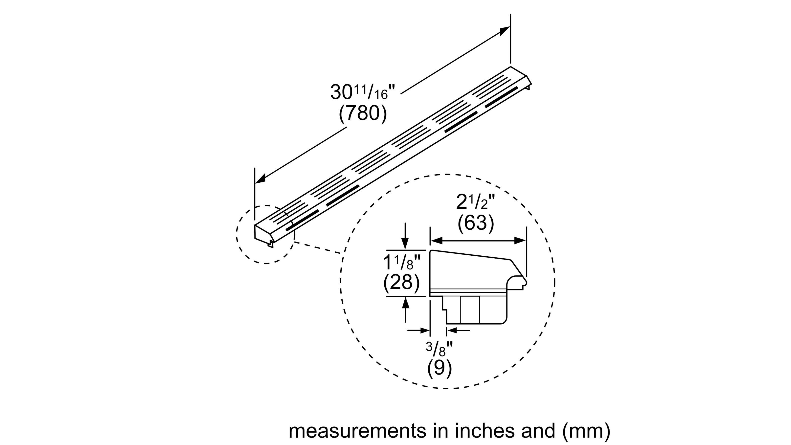 Bosch Hgzit301 Island Trim Kit Gas Slide In Range