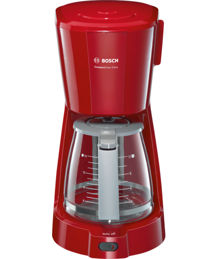 Bosch Coffee Maker Red Cup Light : CompactClass Extra Primary colour: red, Secondary colour: light grey - TKA3A034GB BOSCH