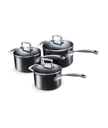 topf set le creuset aluminium stielkasserolen set 3 tlg 00573958. Black Bedroom Furniture Sets. Home Design Ideas