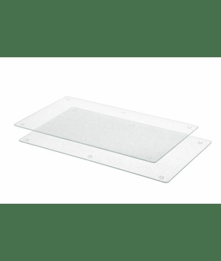 Planche d couper plaques de travail et protection en verre x2 pour recouvrir plan de cuisson - Decouper un plan de travail pour plaque ...
