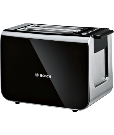 BOSCH - TAT8613GB - Compact toaster 2/2 with stainless steel/plastic ...