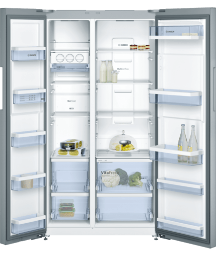 nofrost side by side refrigerator inox easyclean door. Black Bedroom Furniture Sets. Home Design Ideas