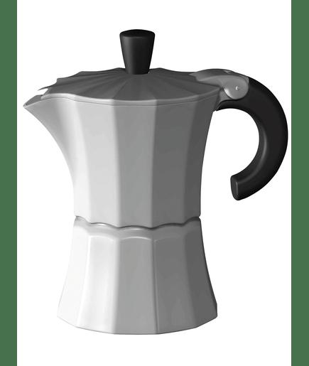 kaffeezubeh r gnali zani alu espressokocher morosina white f r 6 tassen der klassiker der. Black Bedroom Furniture Sets. Home Design Ideas