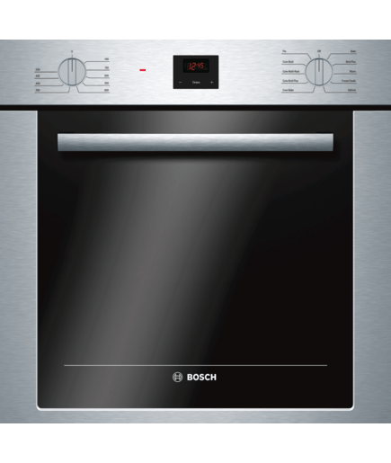 24 Single Wall Oven Hbe5451uc Stainless Steel 500 Series Bosch