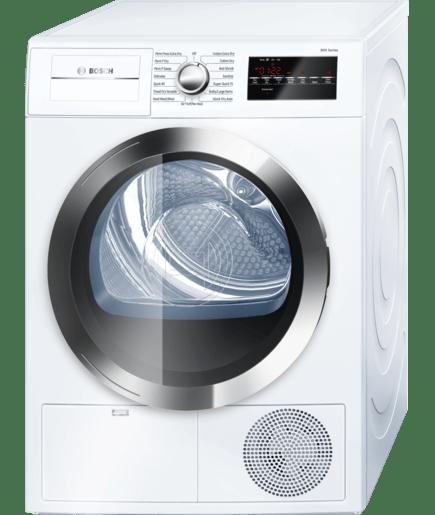 24 compact condensation dryer wtg86402uc white chrome. Black Bedroom Furniture Sets. Home Design Ideas