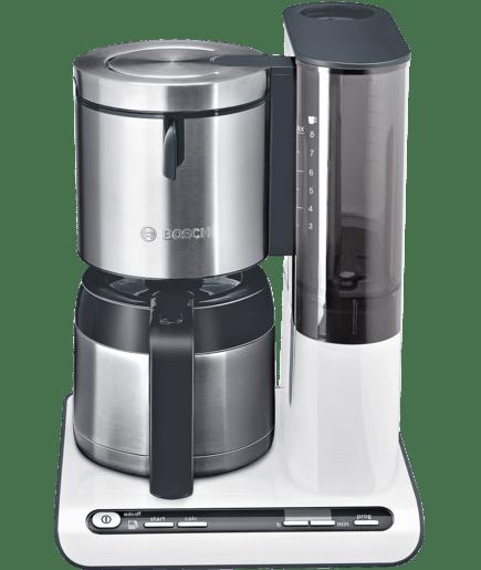 thermo kaffeemaschine 8 tassen kunststoff mit edelstahl prim rfarbe wei sekund rfarbe. Black Bedroom Furniture Sets. Home Design Ideas