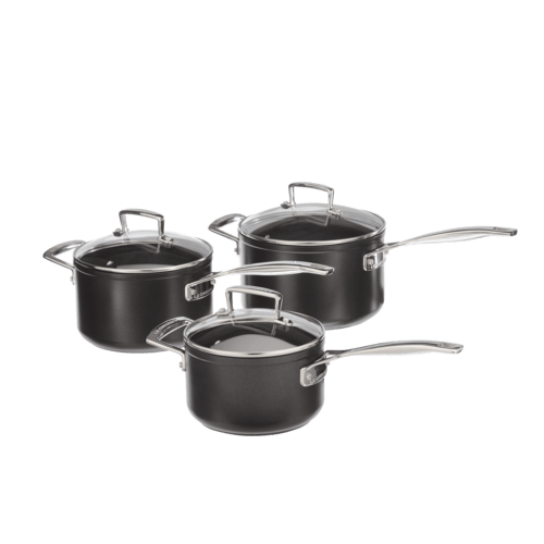 bosch 00573958 topf set le creuset aluminium stielkasserolen set 3 tlg. Black Bedroom Furniture Sets. Home Design Ideas