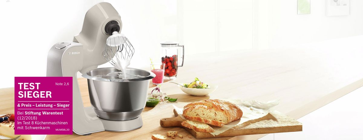 Testsieger Kuchenmaschinen Bosch Hausgerate