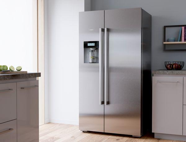 Amerikanischer Kühlschrank Edelstahl : Side by side kühlschrank bosch