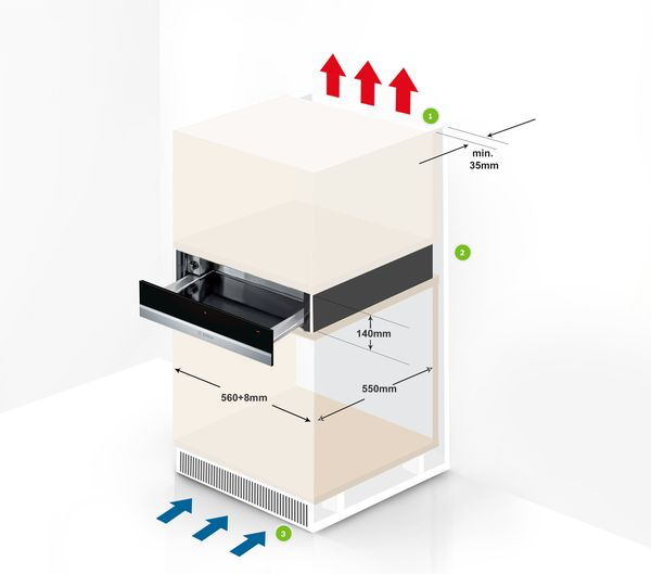 A Guide To Installing Your Bosch Warming Drawer Bosch Home Appliances