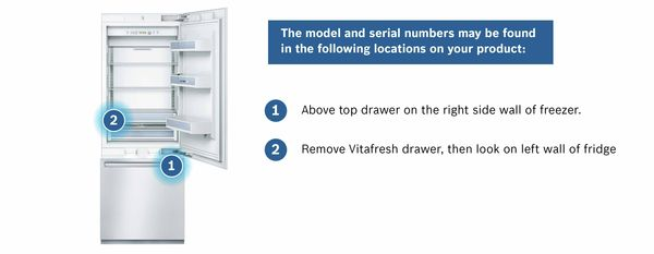 Find Your Bosch Refrigerator Serial Number | Bosch