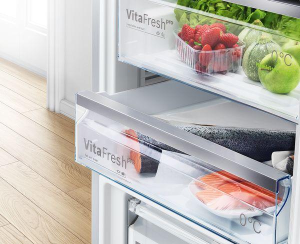 Bosch VitaFresh hladnjaci sa zamrzivačem dulje održavaju voće i povrće svježim.