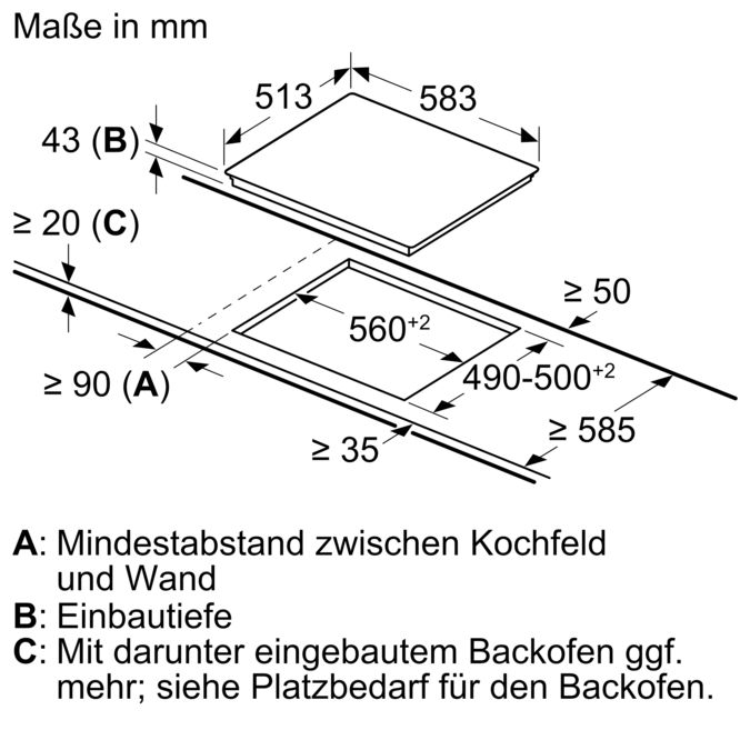 Gut bekannt BOSCH - NKH645GA1M - Elektrokochfeld PS58