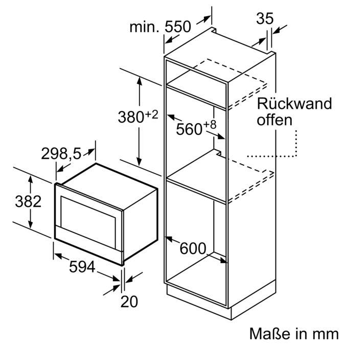 BOSCH BFR634GB1 Einbau Mikrowelle