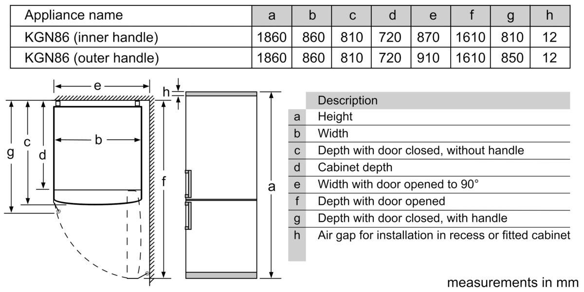 BOSCH - KGN86AI40B - free-standing fridge-freezer with