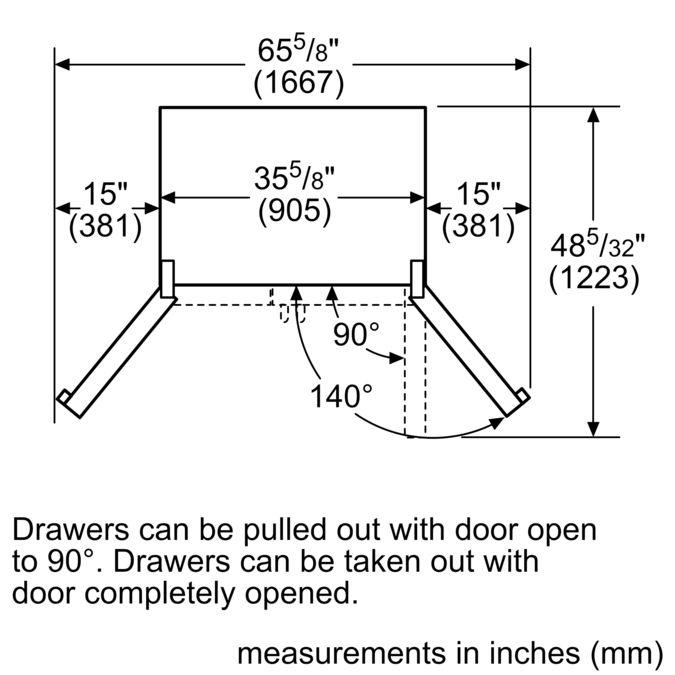 Bosch B26ft80sns French Door Bottom Freezer 3 Doors