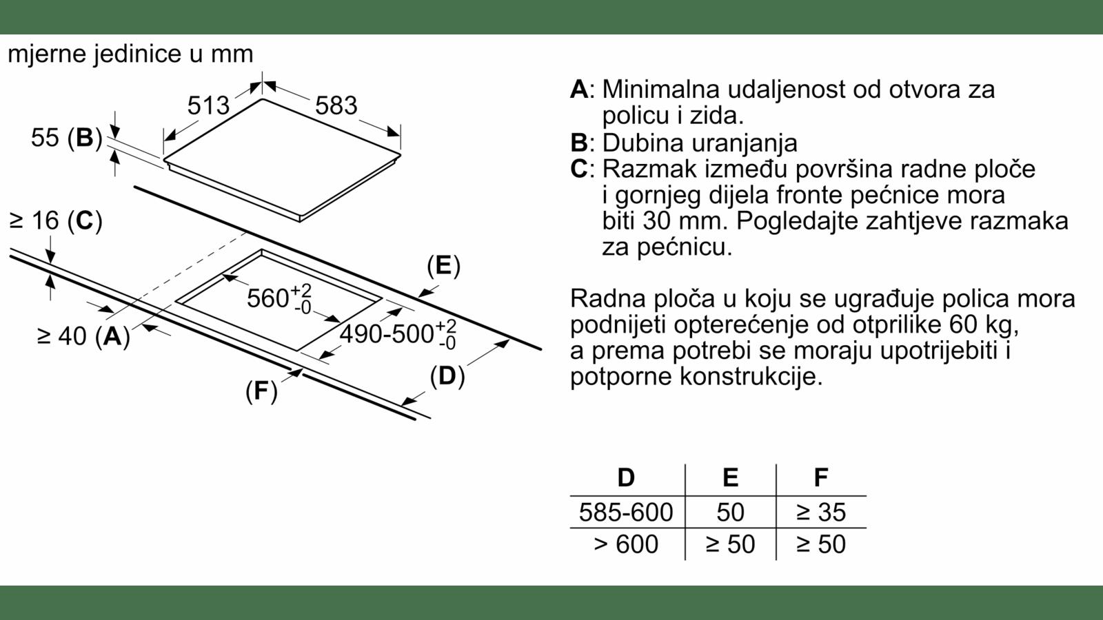 BOSCH - PUE645BB2E - Indukcijska ploča za kuhanje