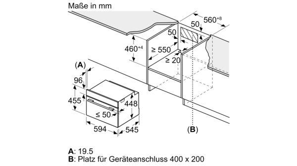 Serija |  6 Vgradna mikrovalovna pečica s funkcijo pare 60 cm iz nerjavečega jekla COA565GS0 COA565GS0-8