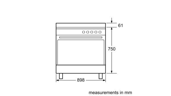 Serie | 2 Gas range cooker 90 cm HSG734357Z HSG734357Z-9