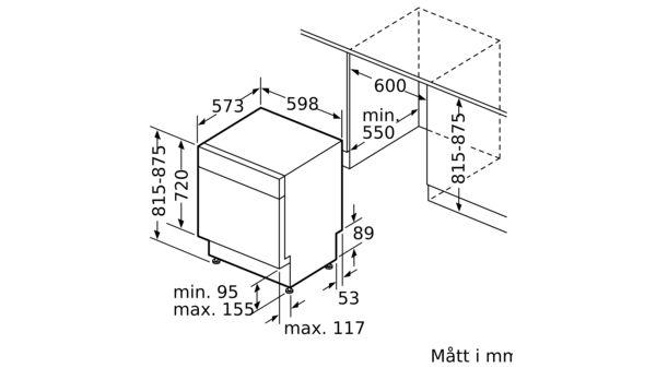 BOSCH SMU46CI02S Underbyggd diskmaskin