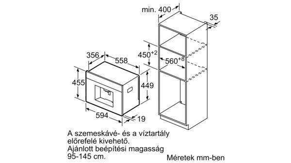 Bosch CTL636ES6 Serie | 8 Automata Kávéfőző Nemesacél