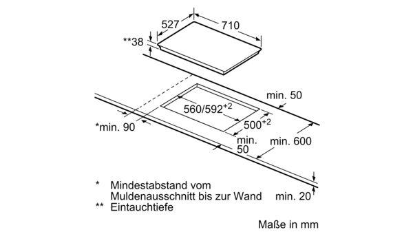 Bekannt BOSCH - NKN775J17E - Elektrokochfeld CW02