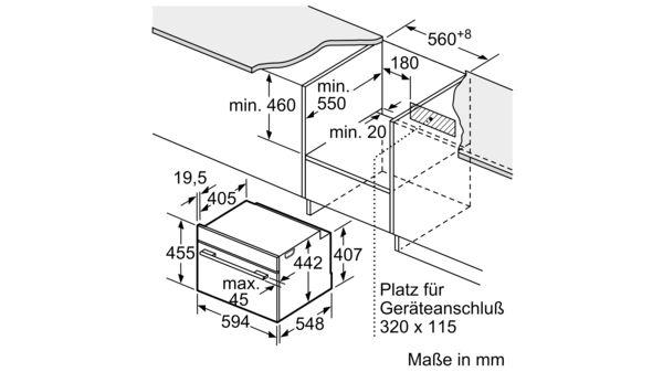 BOSCH CBG635BS3 Kompakt Einbau Backofen