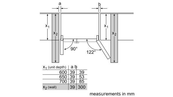 Serie | 4 American side by side 175.6 x 91.2 cm Stainless steel (with anti-fingerprint) KAN92VI35O KAN92VI35O-6