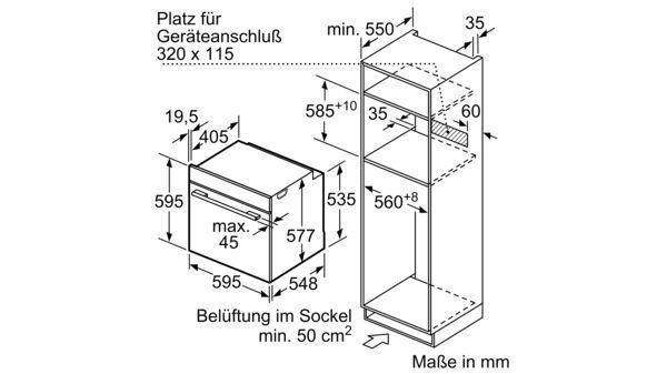 BOSCH HMG636RS1 Einbau Backofen mit Mikrowellenfunktion