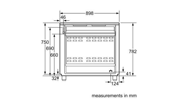Serie | 2 Gas range cooker 90 cm HSG734357Z HSG734357Z-7