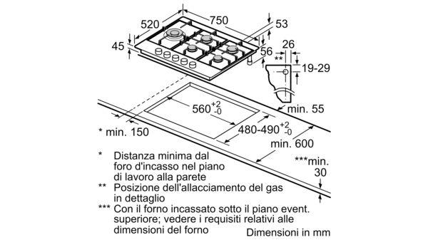 BOSCH - PCS7A5M90 - Piano cottura a gas