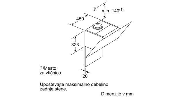 Serie | 8 Stenska napa 90 cm Iz črnega stekla DWK98PR60 DWK98PR60-11