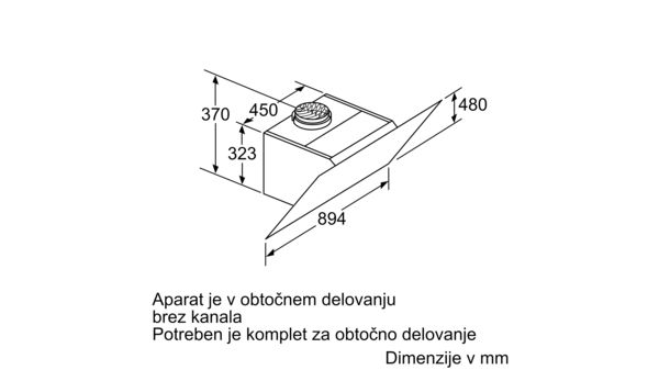 Serie | 8 Stenska napa 90 cm Iz črnega stekla DWK98PR60 DWK98PR60-10
