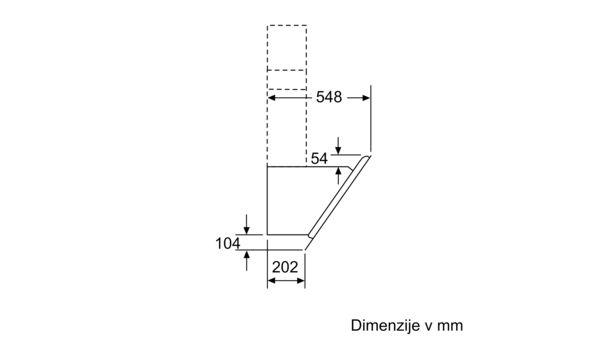 Serie | 8 Stenska napa 90 cm Iz črnega stekla DWK98PR60 DWK98PR60-12