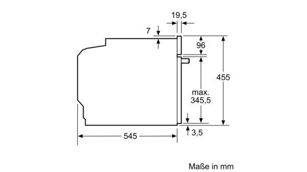 Serija |  6 Vgradna mikrovalovna pečica s funkcijo pare 60 cm iz nerjavečega jekla COA565GS0 COA565GS0-6