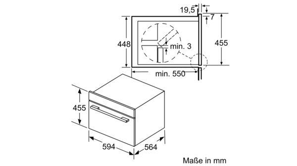 Serija |  6 Vgradna mikrovalovna pečica s funkcijo pare 60 cm iz nerjavečega jekla COA565GS0 COA565GS0-9