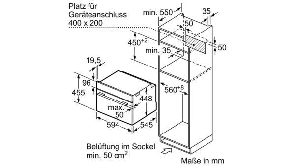 Serija |  6 Vgradna mikrovalovna pečica s funkcijo pare 60 cm iz nerjavečega jekla COA565GS0 COA565GS0-7