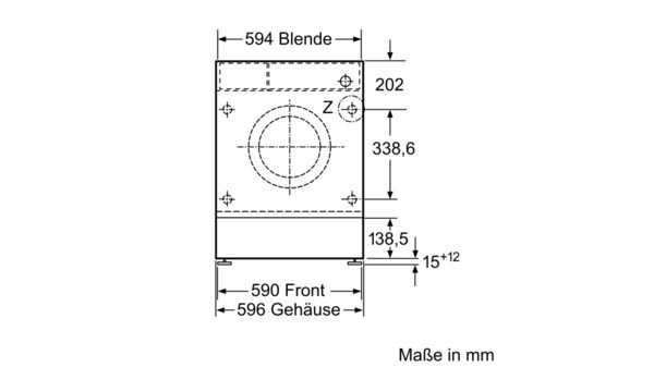 Top BOSCH - WIW28440 - Einbau-Waschmaschine SY96