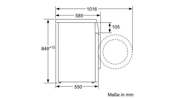 Extrem BOSCH - WUQ28420 - Waschmaschine, Frontlader QK22