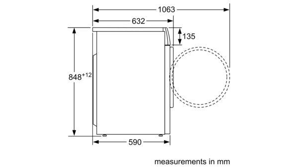 Serie | 6 Washing machine, front loader 10 kg 1400 rpm WAU28440SG WAU28440SG-7