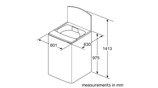 Serie   6 Toploader Washing Machine 13 kg WOE135S0ZA WOE135S0ZA-5