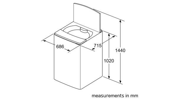 Serie | 6 Toploader Washing Machine 16 kg WOA165X0ZA WOA165X0ZA-5