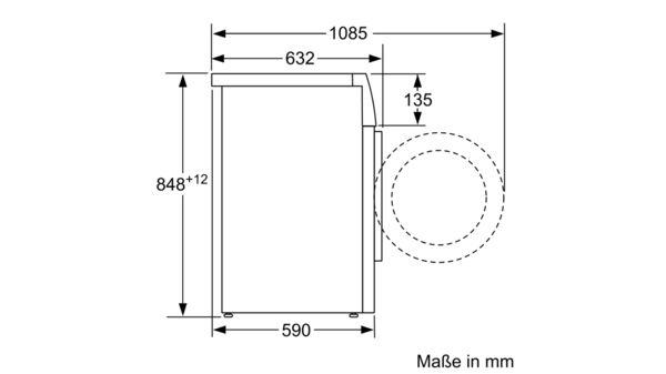 HomeProfessional Waschmaschine Frontlader 9 Kg 1600 U Min WAYH2891 5