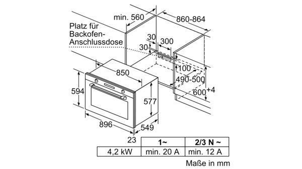 Gut gemocht BOSCH - VBD5780S0 - Einbau-Backofen LM32
