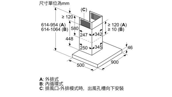8系列 壁掛式排油煙機 90 cm 不銹鋼 DWB98PR50 DWB98PR50-9