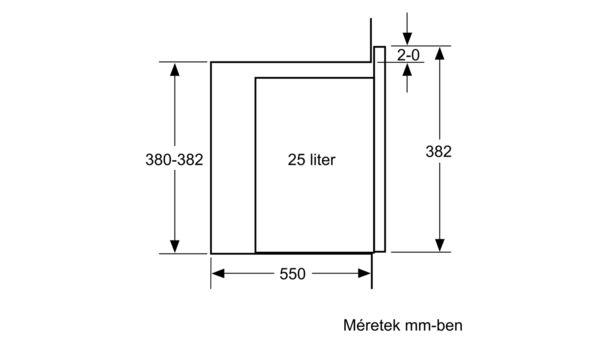 Bosch Serie | 4, Beépíthető mikro, Nemesacél, BFL553MS0