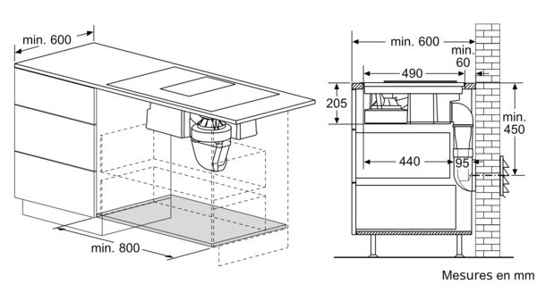 bosch pxx875d34e table de cuisson induction avec hotte. Black Bedroom Furniture Sets. Home Design Ideas