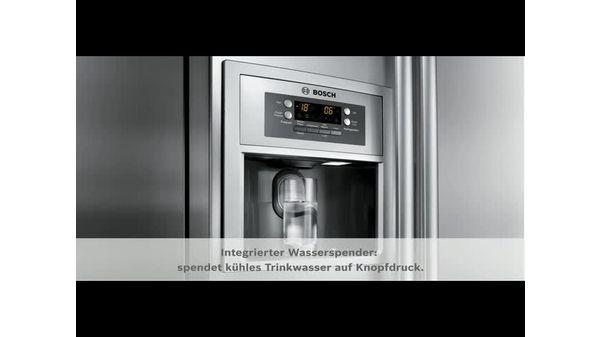 Side By Side Kühlschrank 4 Türen : Türen edelstahl mit anti fingerprint kühl gefrierkombination side