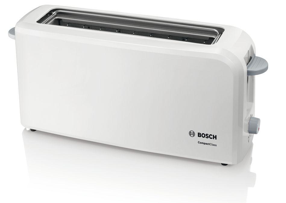 Bosch TAT3A001 CompactClass Langschlitz-Toaster weiß